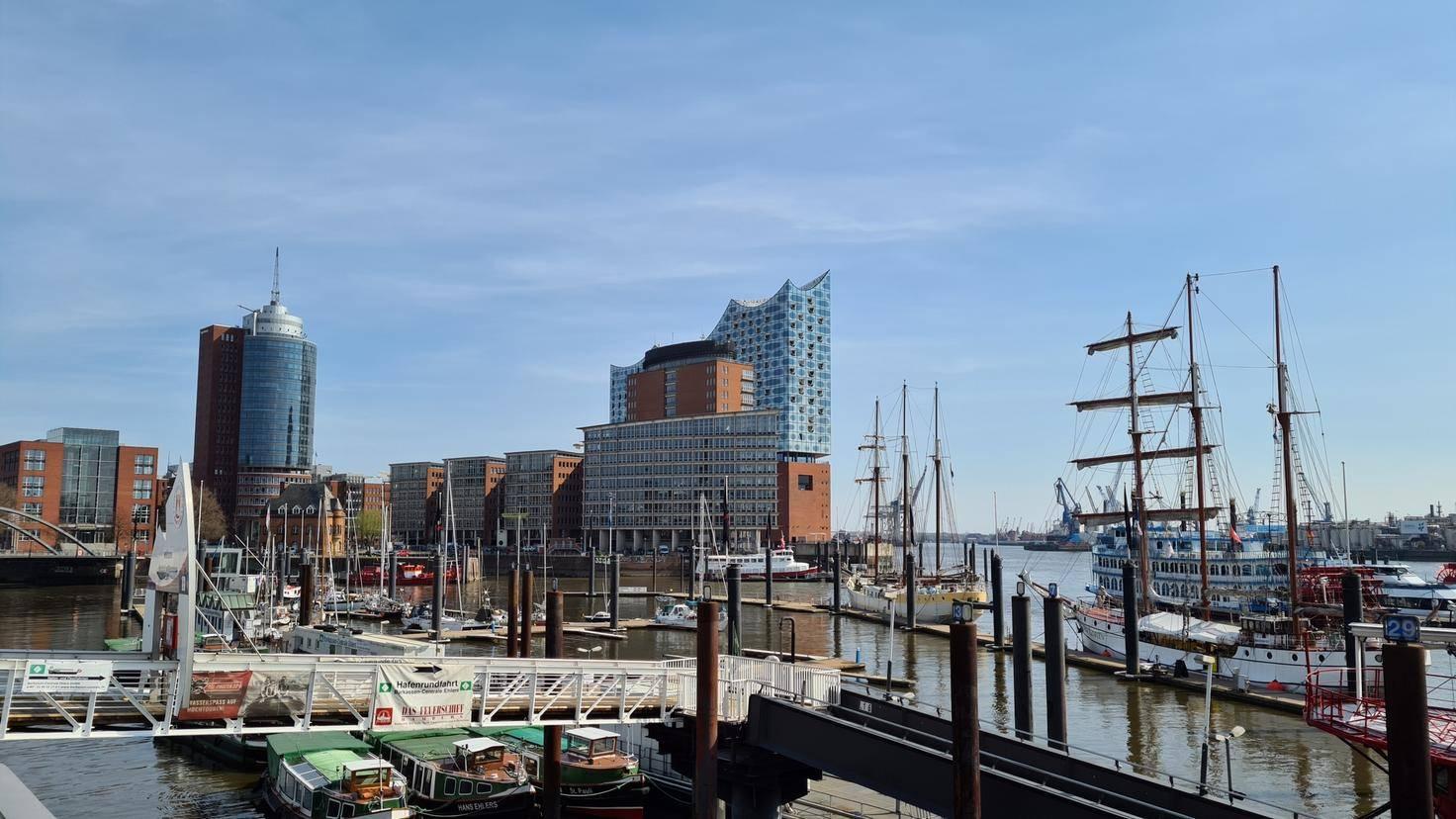 Die Elbphilharmonie in Hamburg, fotografiert mit dem S20+.
