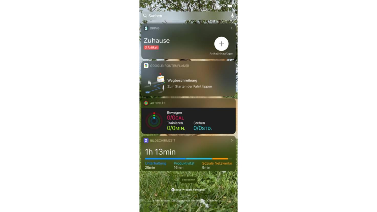 Widgets unter iOS