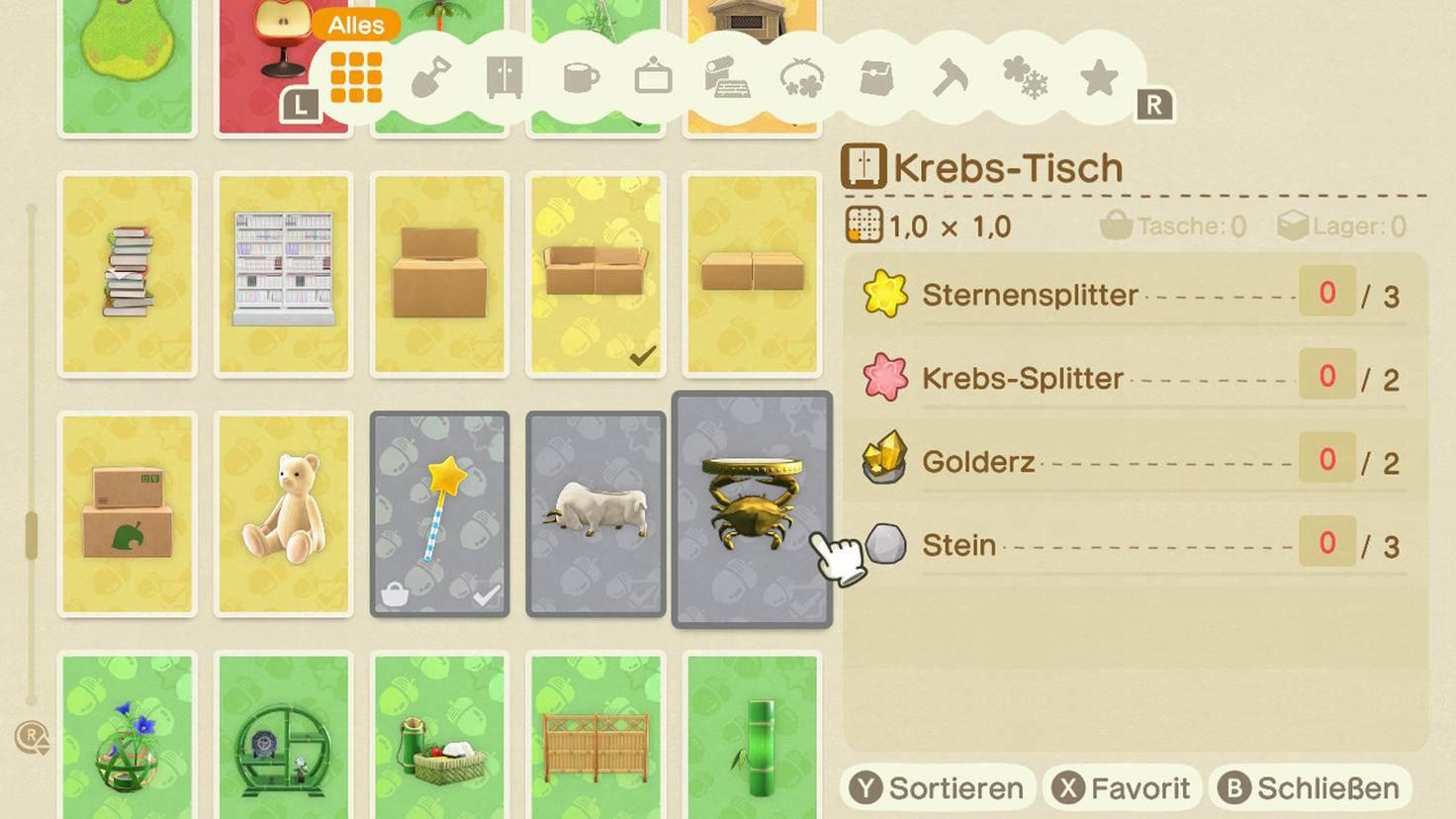 Animal Crossing New Horizons Sternensplitter-Möbel