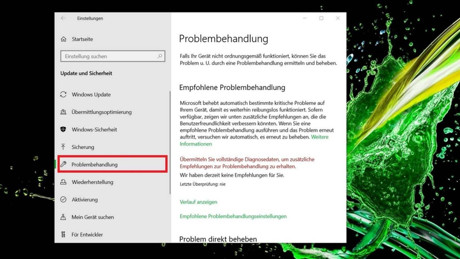 Update-Problembehandlung-Windows