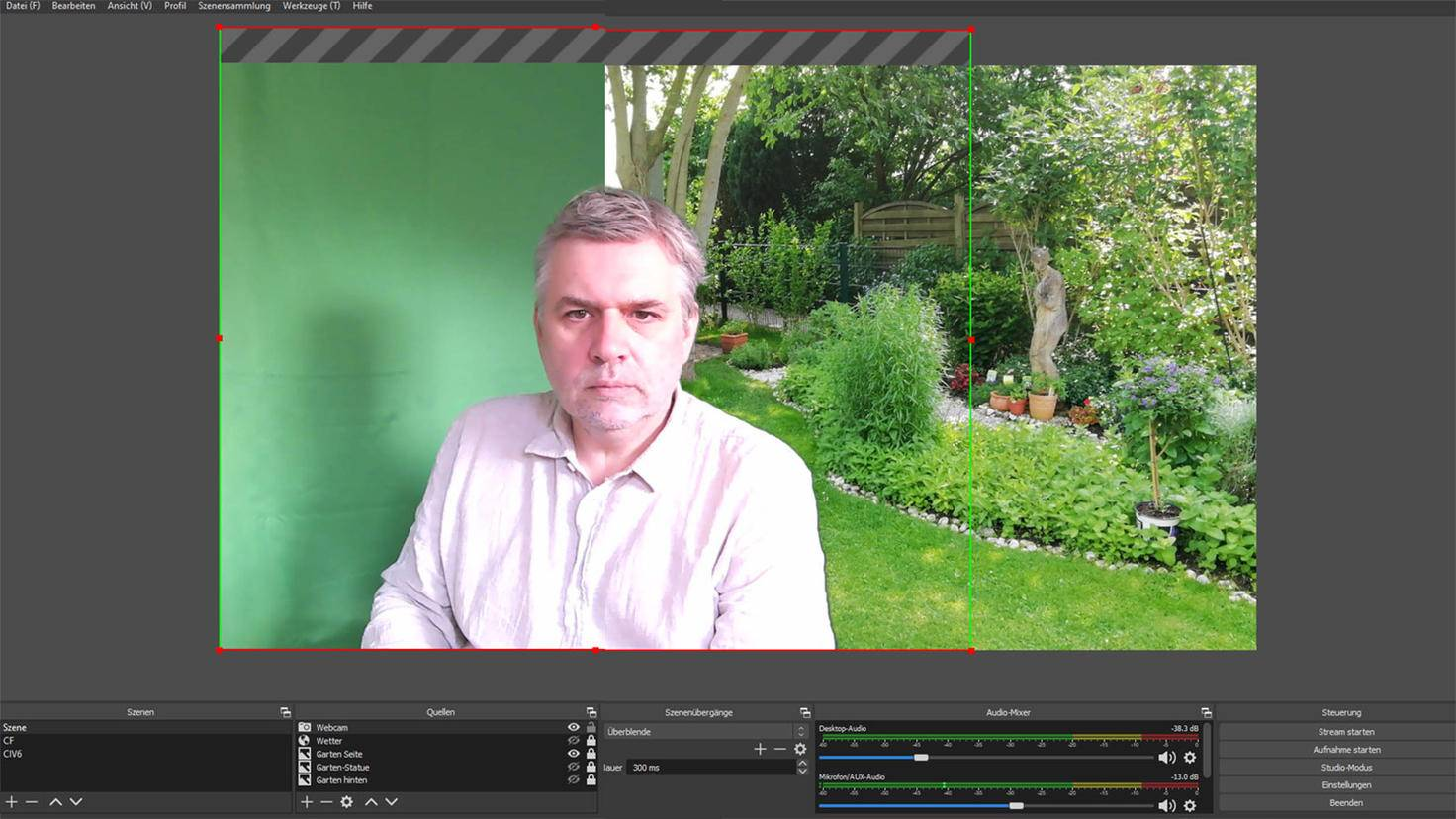 Greenscreen mit OBS Studio