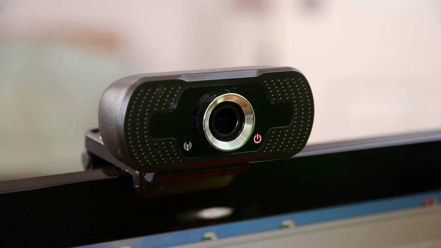 Webcam für Videokonferenz im Home-Office
