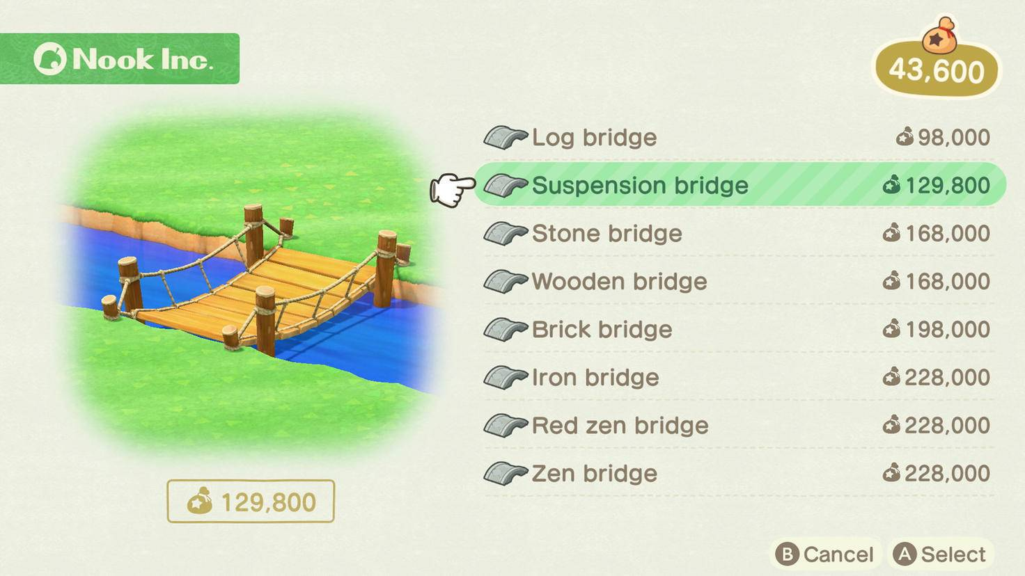 Animal Crossing New Horizons Brückenbau