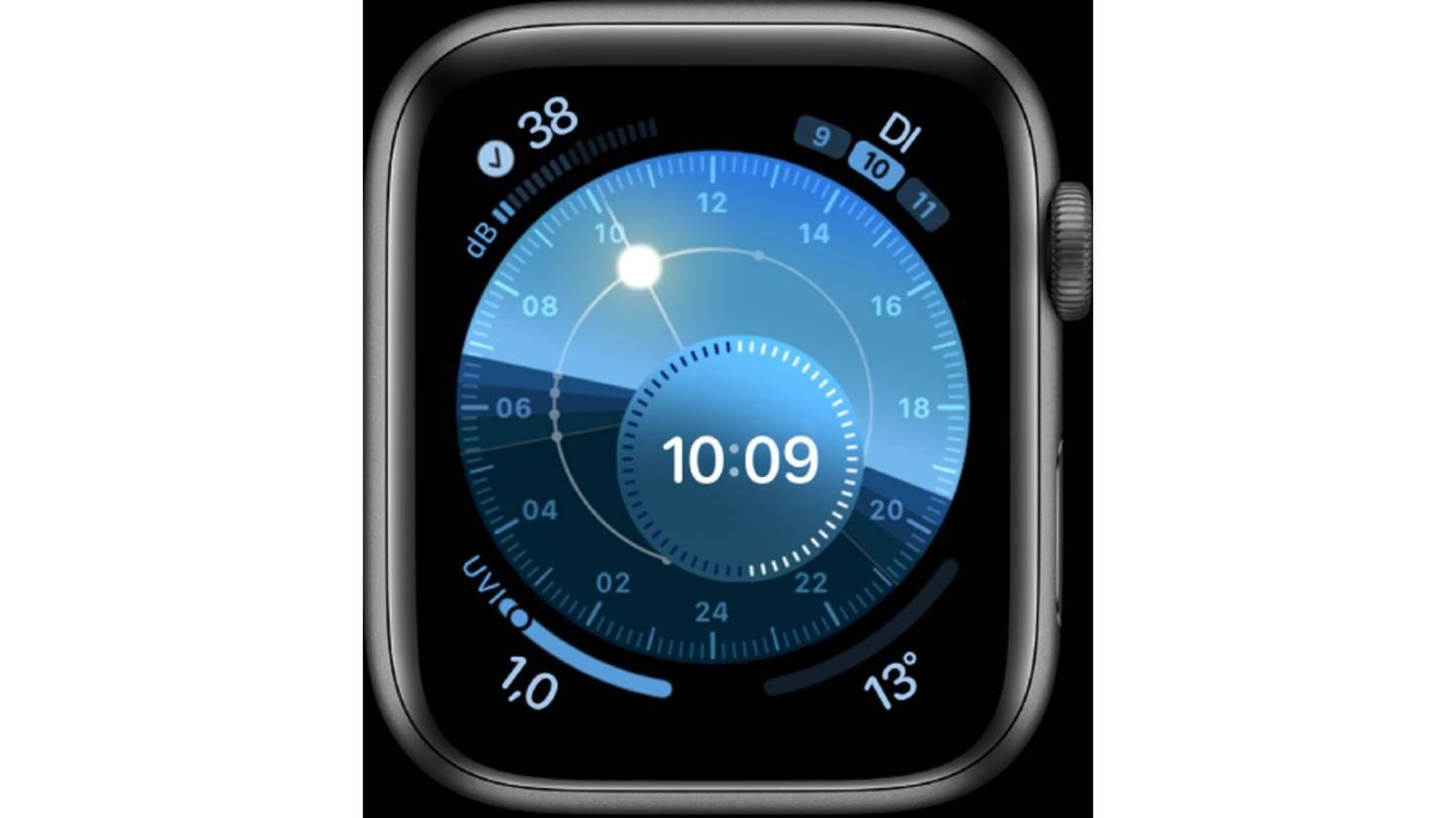 Apple Watch Sonnenuhr