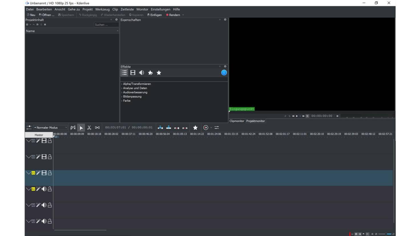 Video schneiden kostenlos kdenlive 1