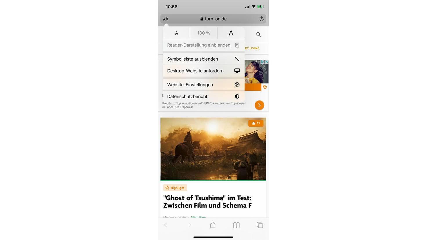 Mit nur einem Klick kannst Du in Safari einen Datenschutzbericht anfordern.