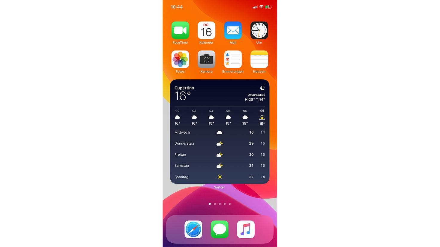 Ein großes Wettter-Widget auf dem Homescreen? In iOS 14 kein Problem.
