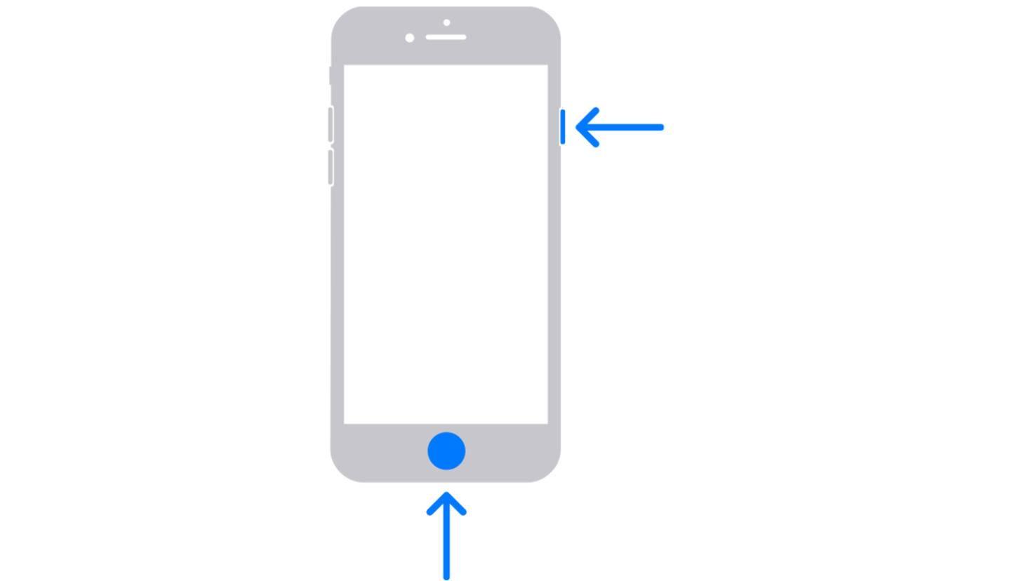 iPhone mit Home-Button Screenshot