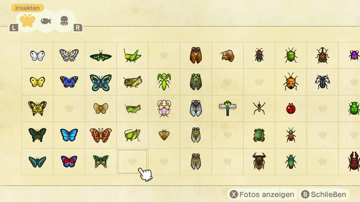 Animal Crossing New Horizons Faunapädie 1