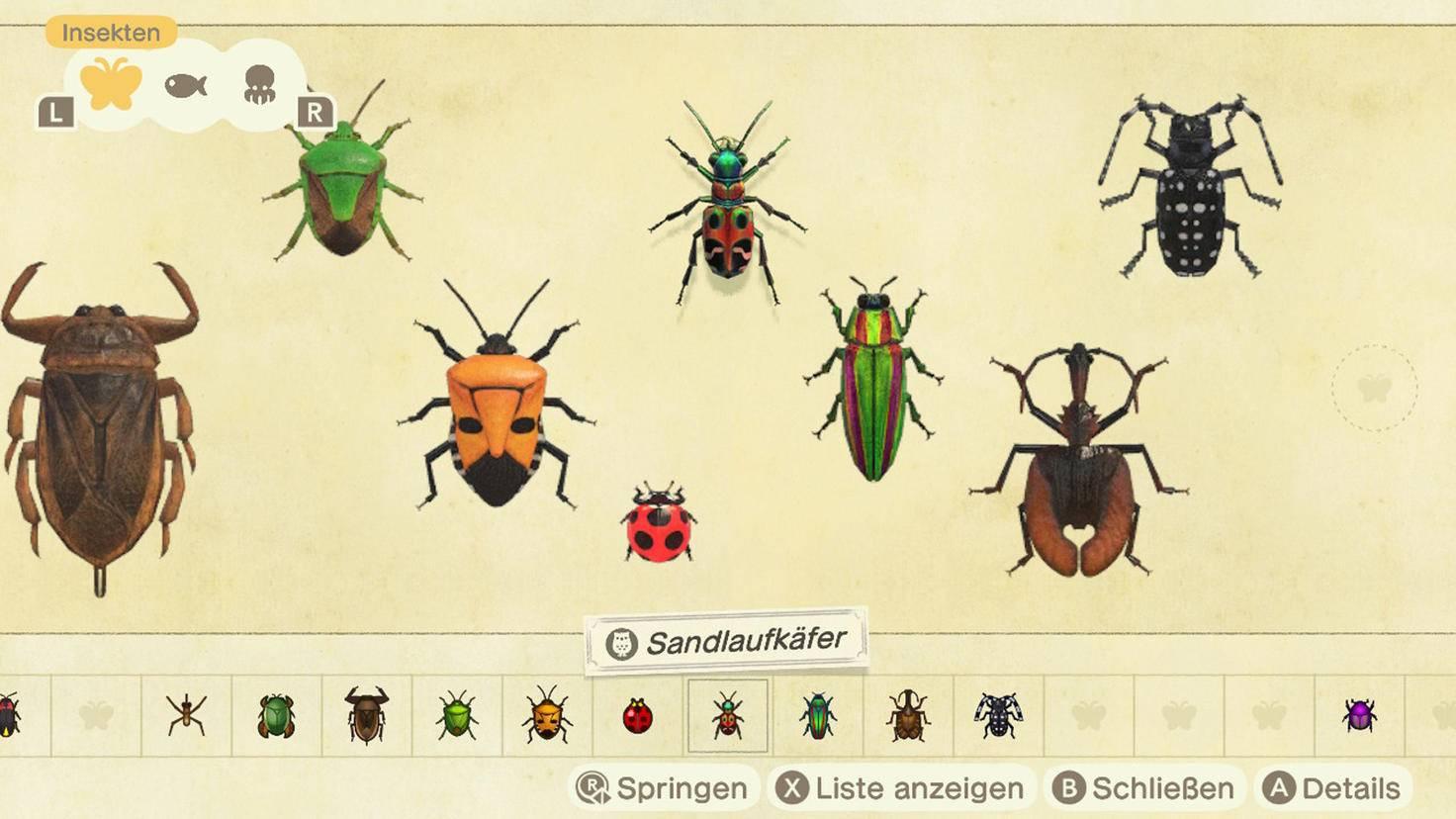Animal Crossing New Horizons Faunapädie 5
