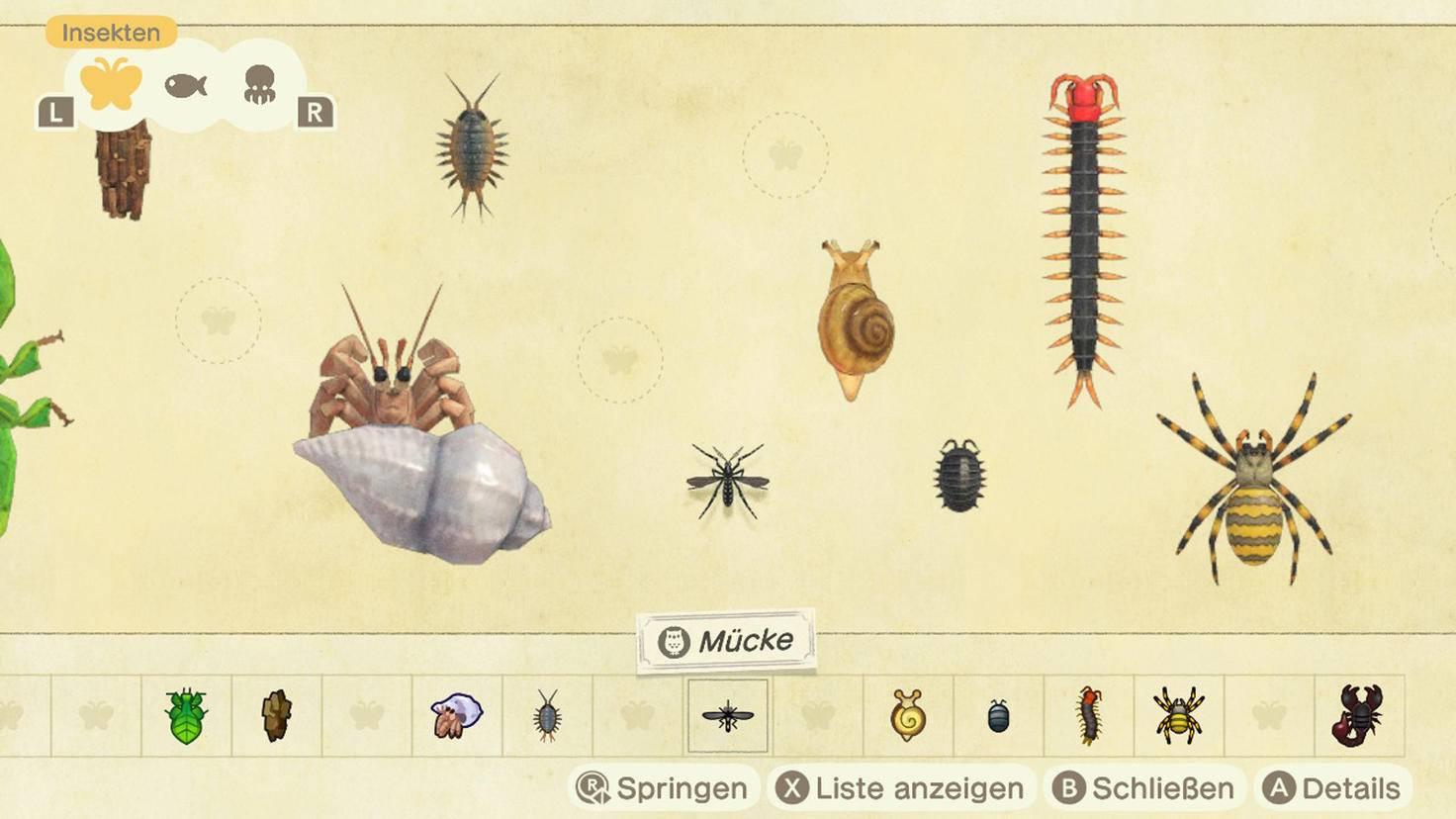 Animal Crossing New Horizons Faunapädie 6