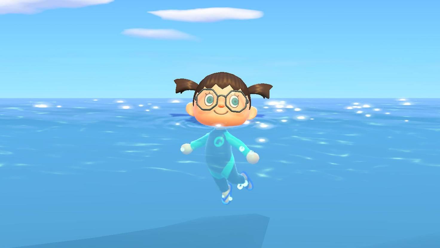Animal Crossing New Horizons schwimmen 2