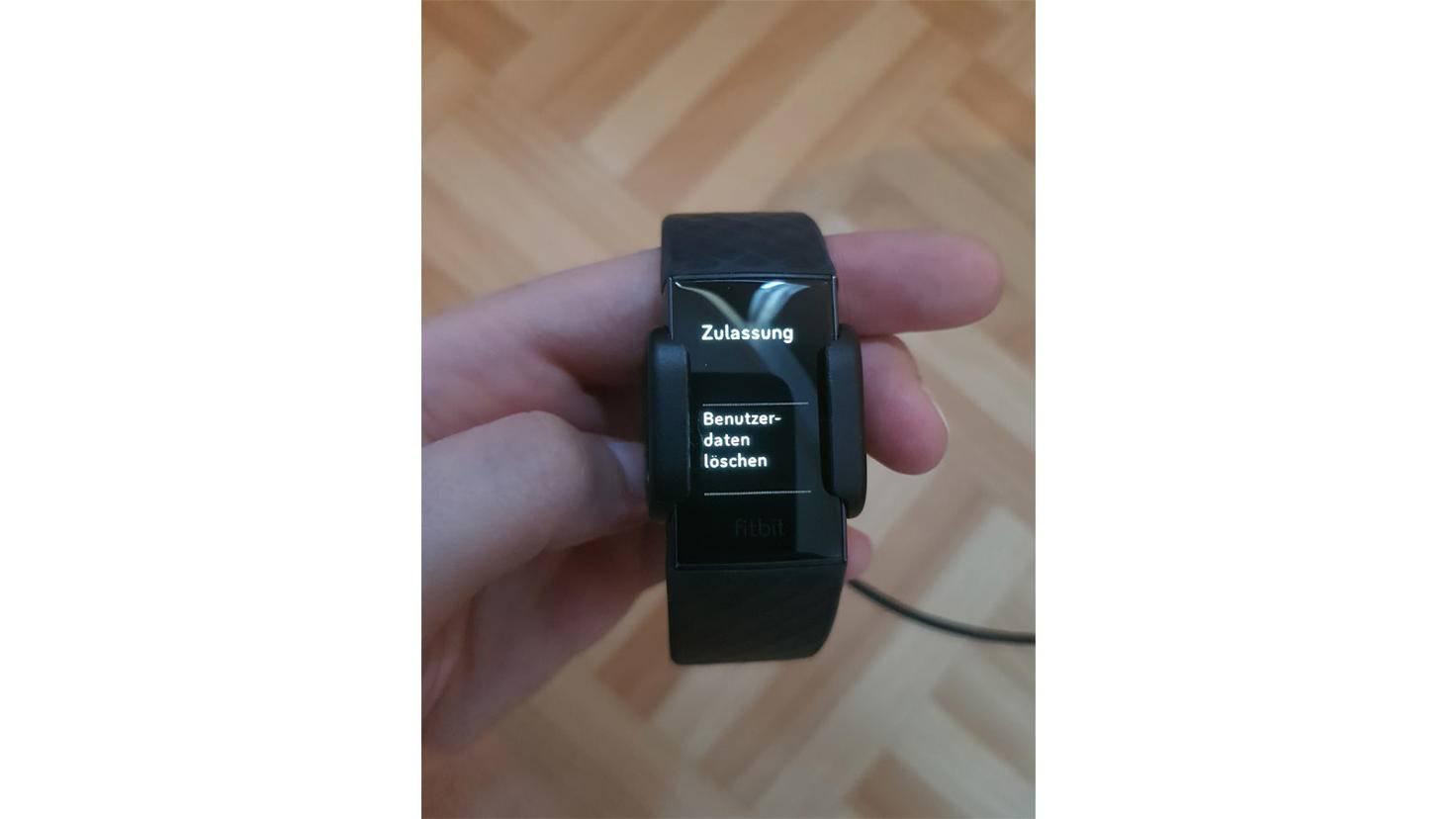 Fitbit Charge 3 Benutzerdaten loeschen