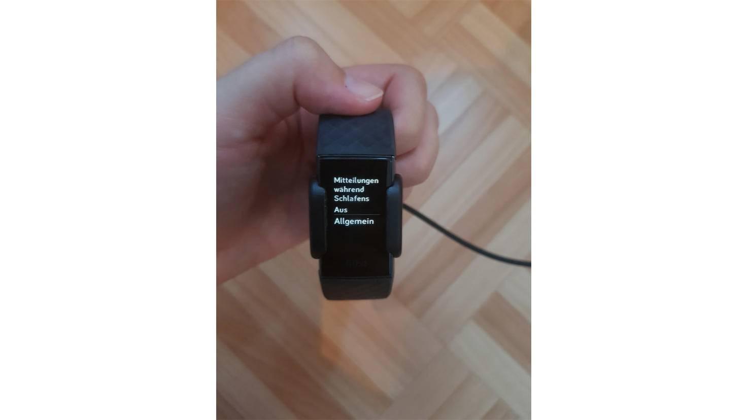 Fitbit Charge 3 Menuepunkt Allgemein