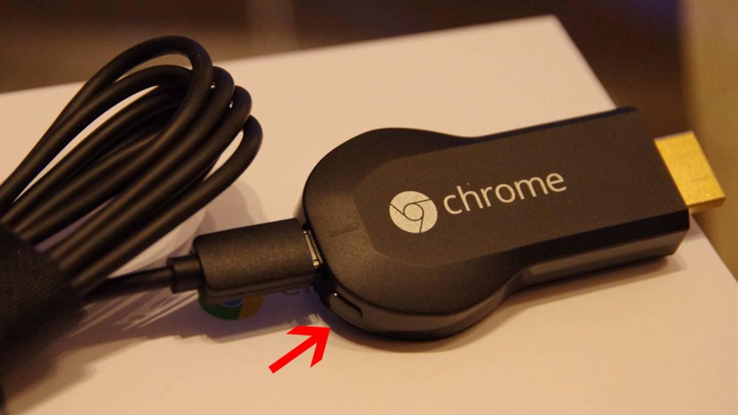 Google Chromecast zuruecksetzen 2