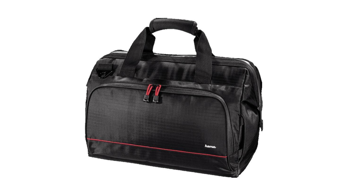 Die Hama-Kameratasche ist wie eine Arzttasche aufgebaut.