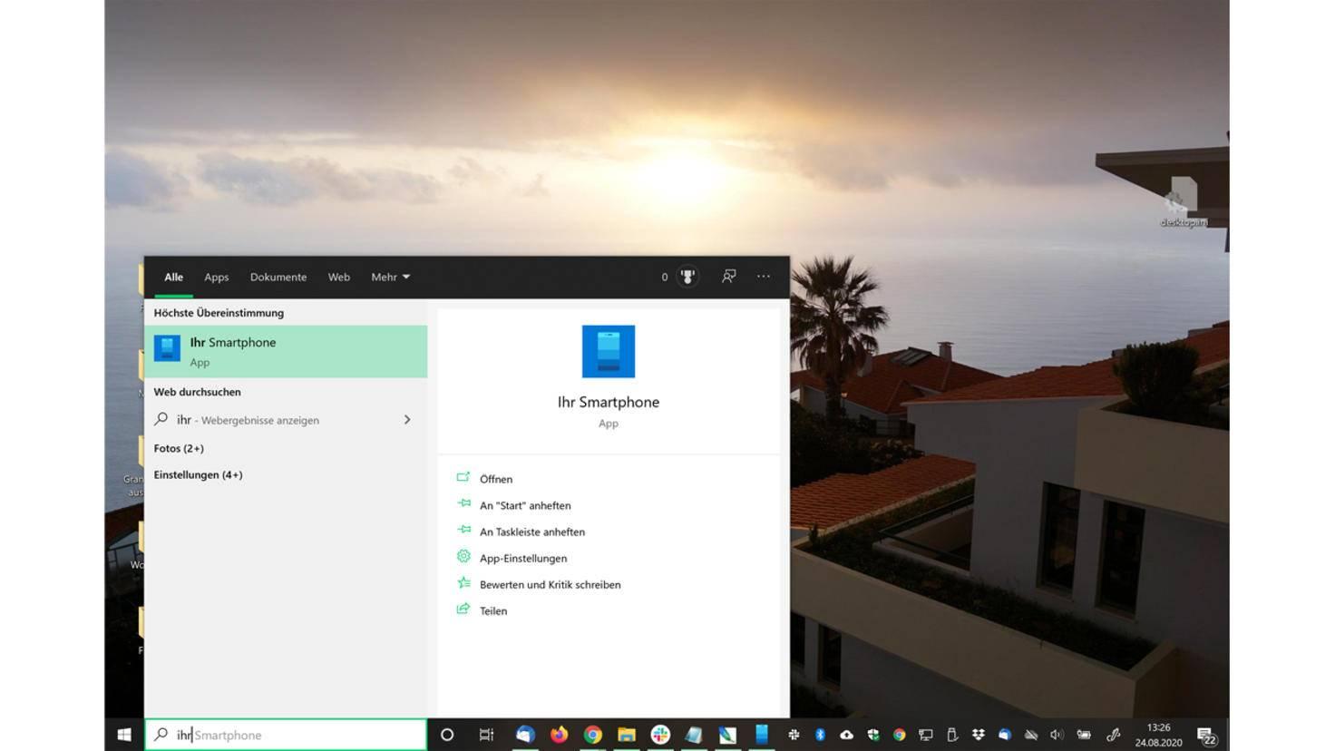 Ihr Smartphone App Windows 10 2