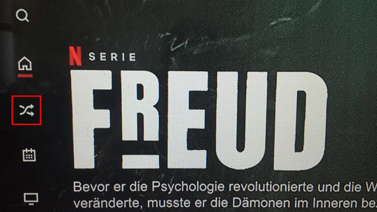 Netflix Menü Shuffle