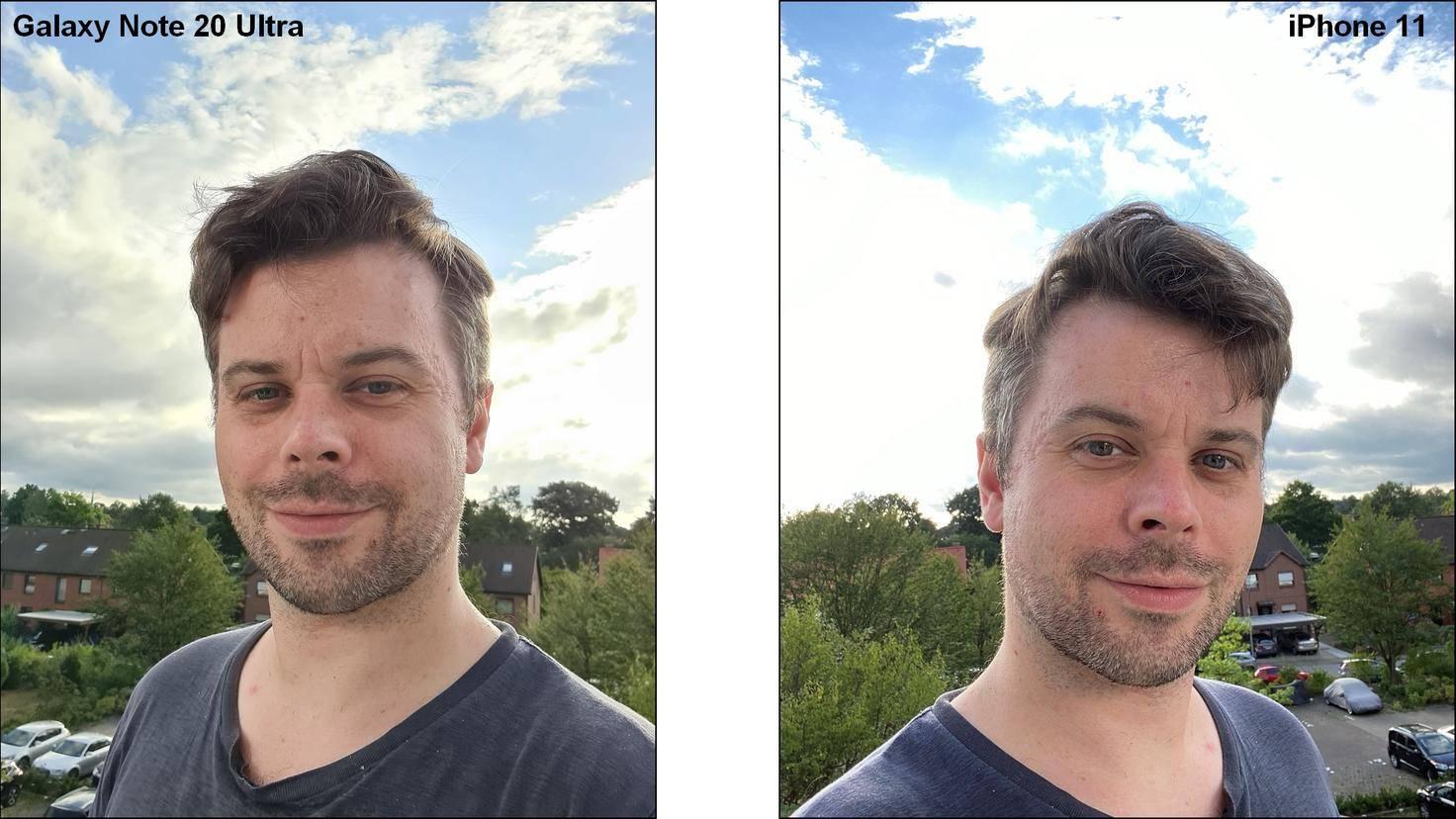 Selfie-Note-20-Ultra-Vergleich-iPhone