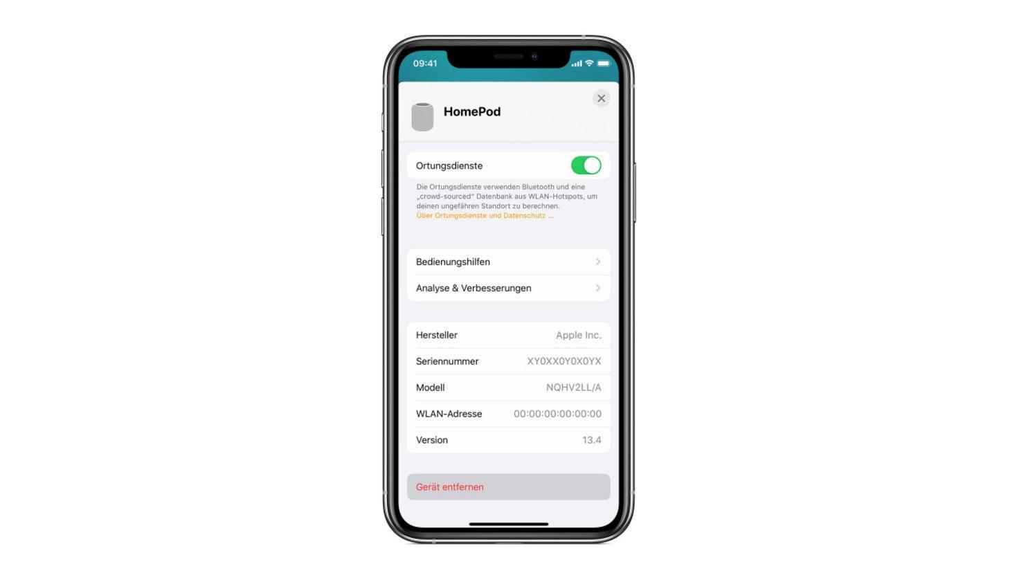 apple-homepod-zurücksetzen-iphone-screenshot