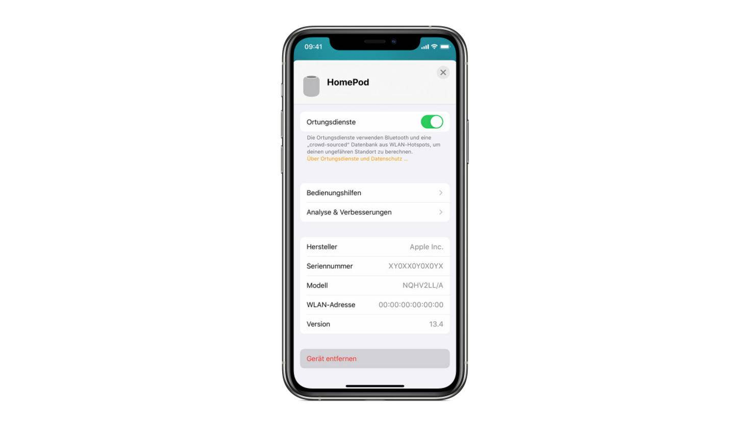 apple-homepod-zurücksetzen-iphone-screenshot