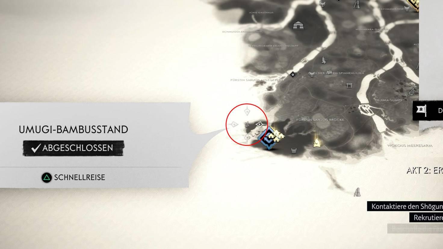 Ghost of Tsushima Karte