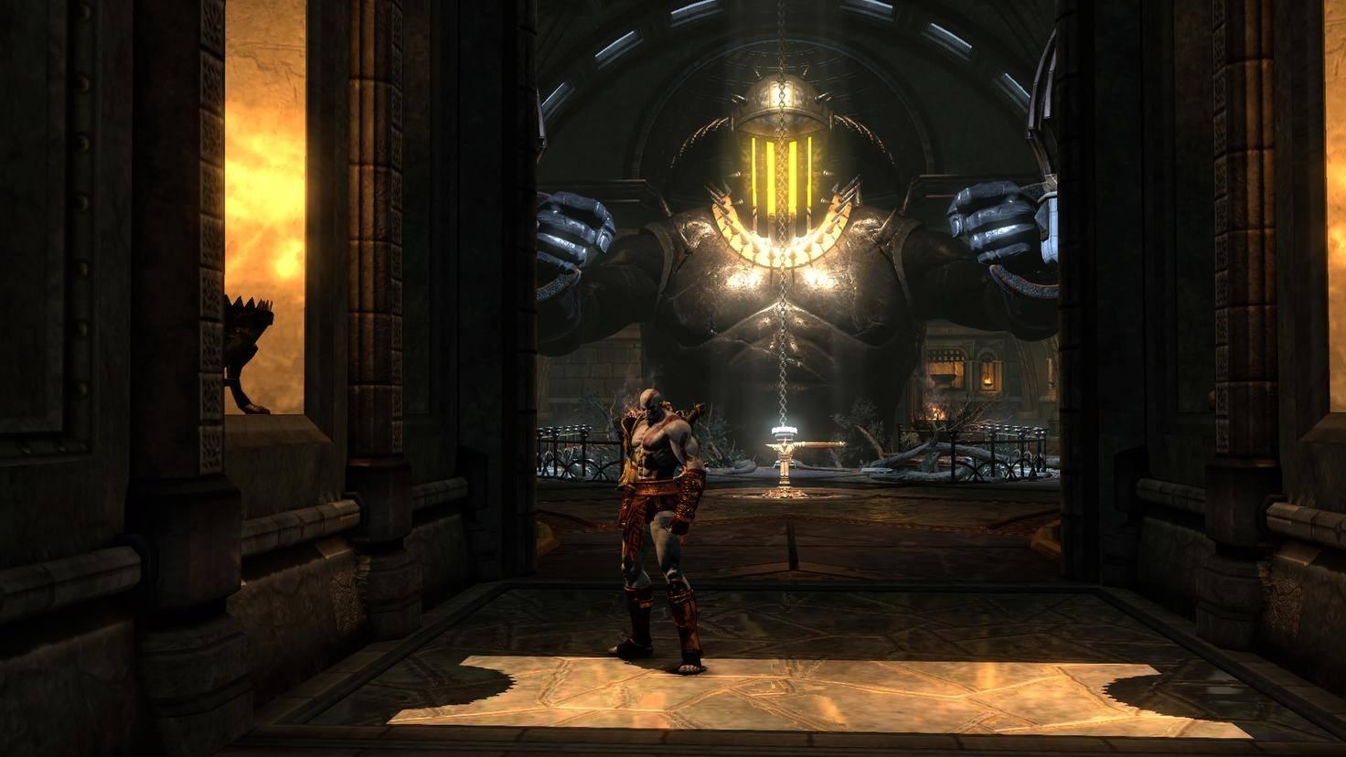 """Ein Screenshot von """"God of War 3 Remastered"""" auf der PS4 Pro ..."""