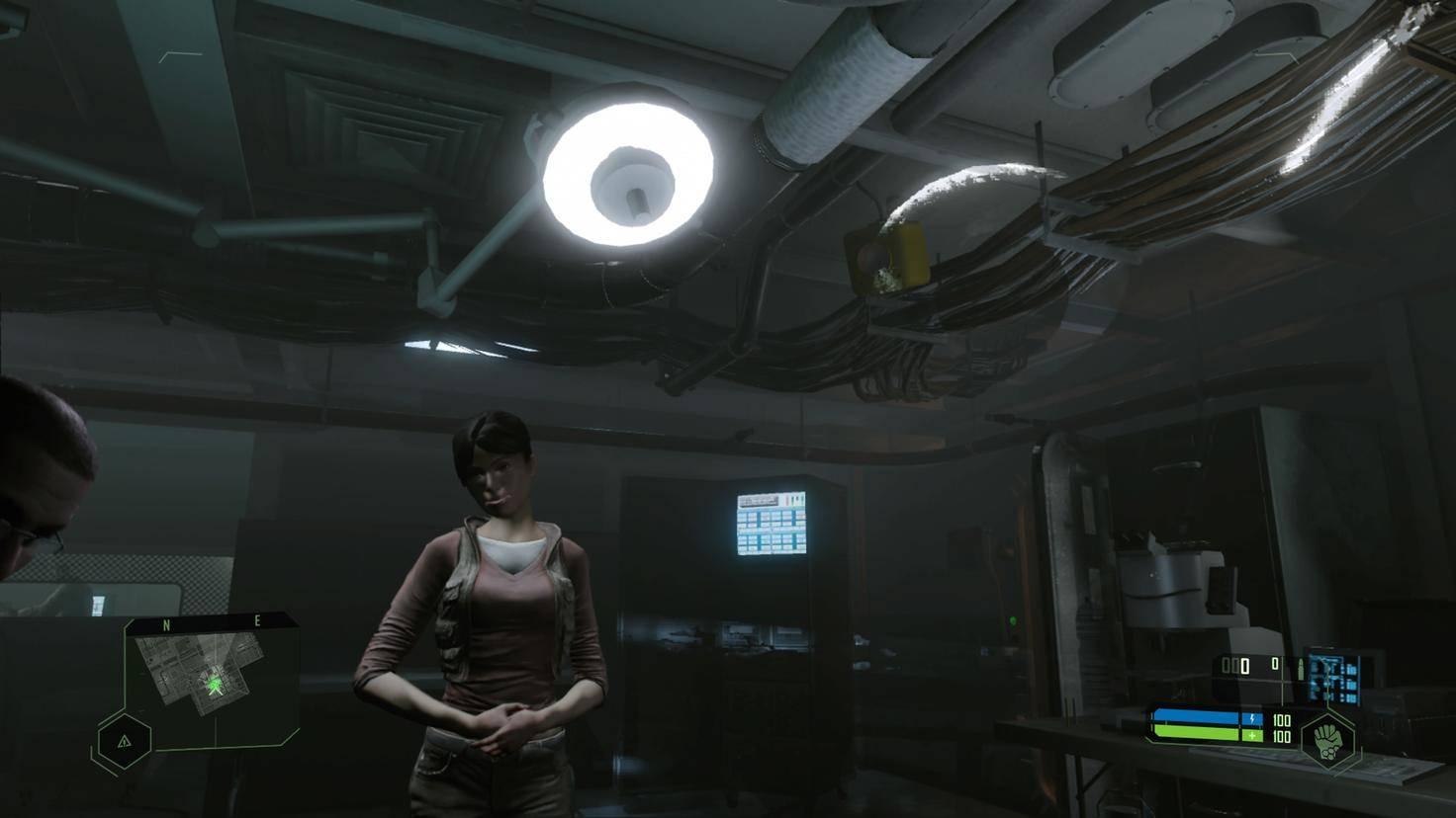 Diese Lampe dürfte sich nicht rechts daneben an der Decke spiegeln.