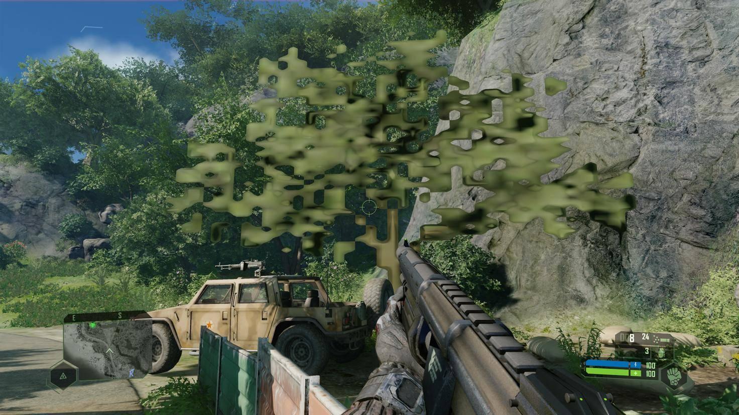 Dieser Pixelhaufen sollte eigentlich ein Baum sein.