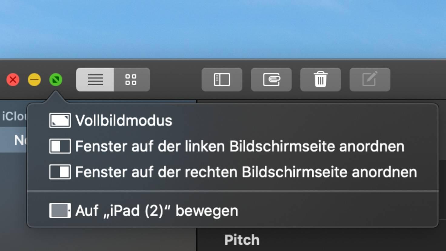 MacOS grüner Button