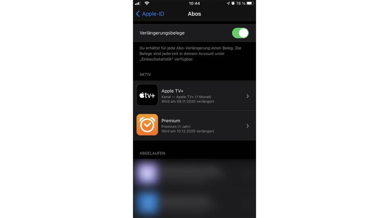 Probeabo Apple TV+ finden