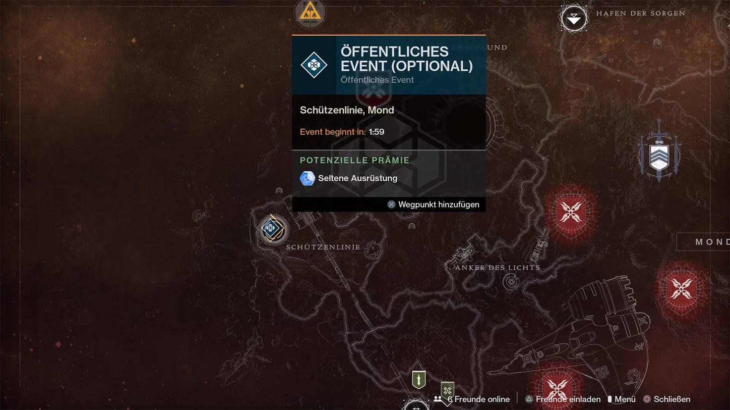 Destiny 2 öffentliches Event auf dem Mond