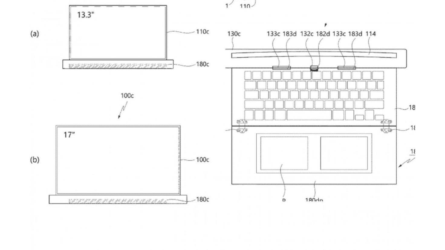 LG rollbares Laptop-Display