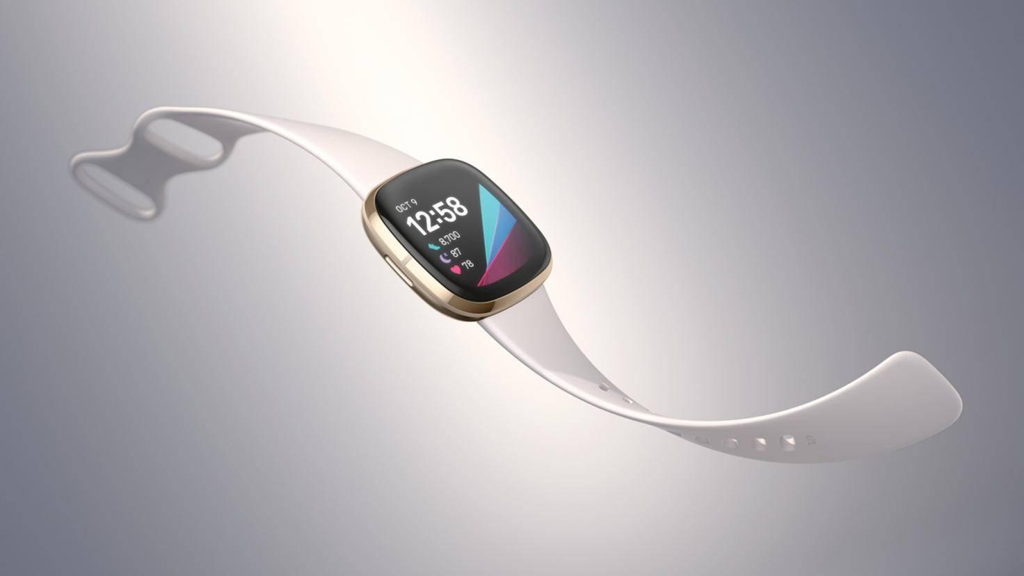 Fitbit bietet die Sense mit zwei verschiedenen Gehäusefarben an.