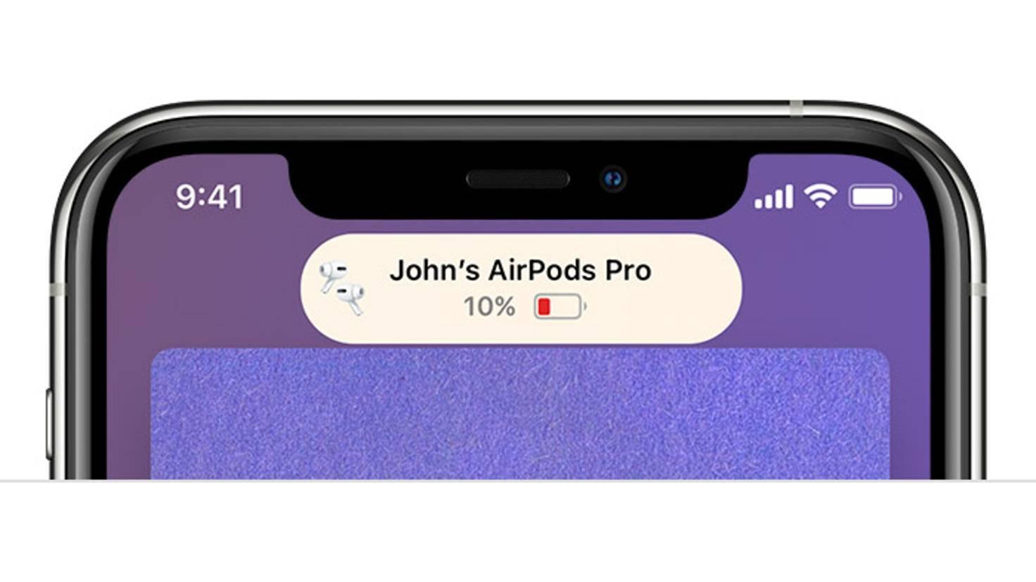 AirPods-Pro-Akkumeldung