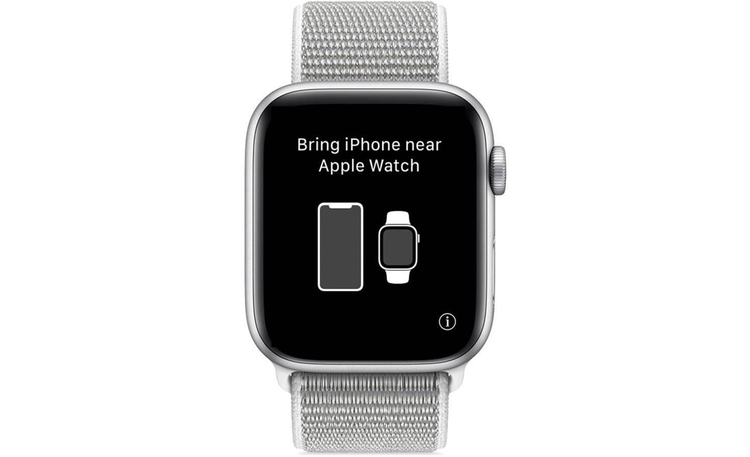 i-Symbol auf einer nicht gekoppelten Apple Watch