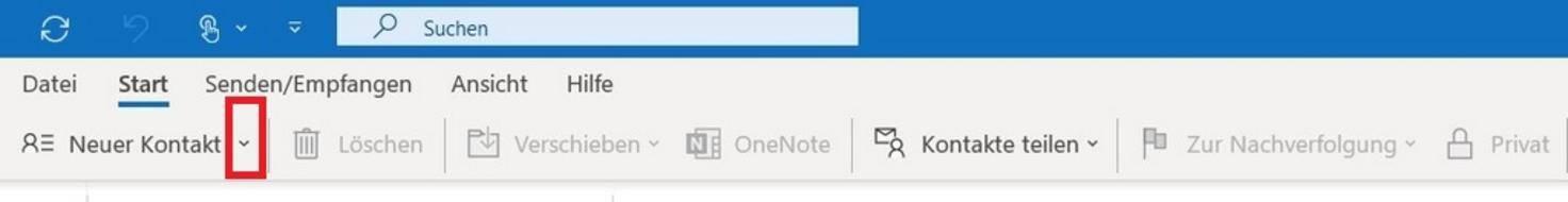 Outlook-Kontakte