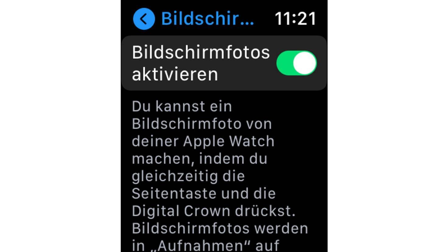 Screenshot Apple Watch