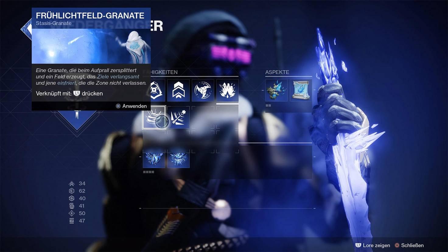 Destiny 2 Stasis Frühlichtfeld-Granate