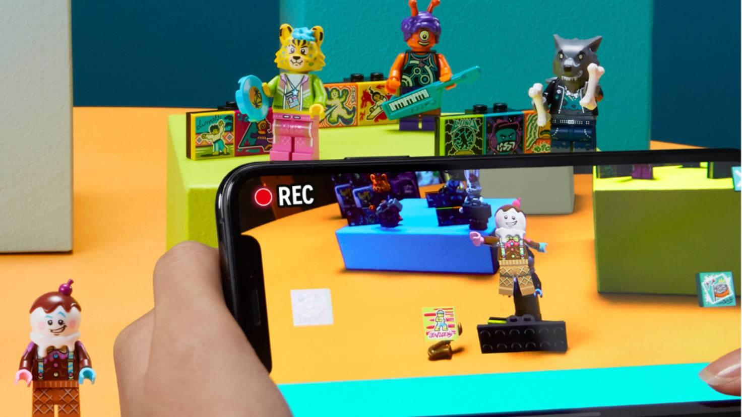 Stell Deine Lego-Band zusammen und dreh Dein eigenes Musikvideo.