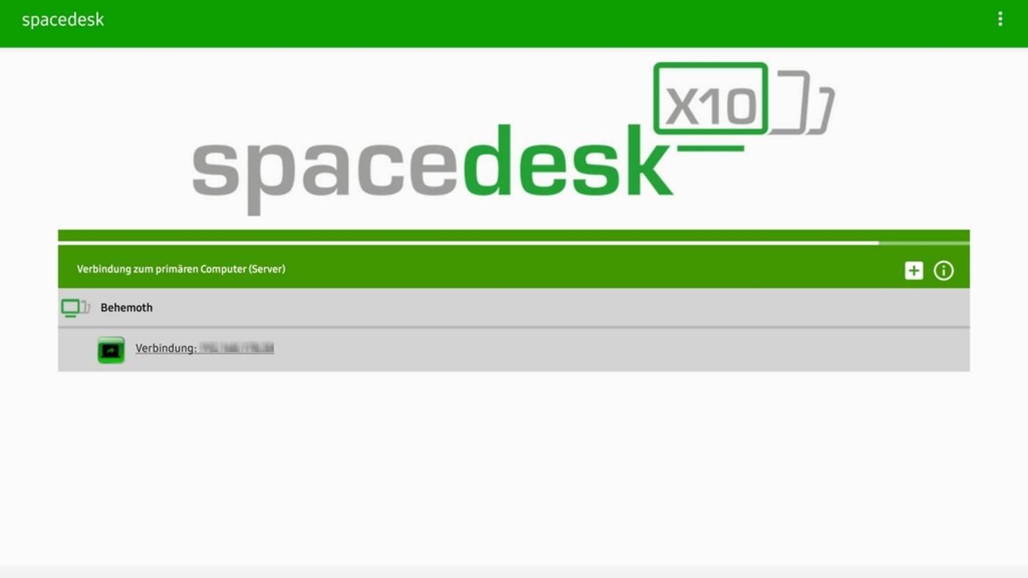Spacedesk-Tablet