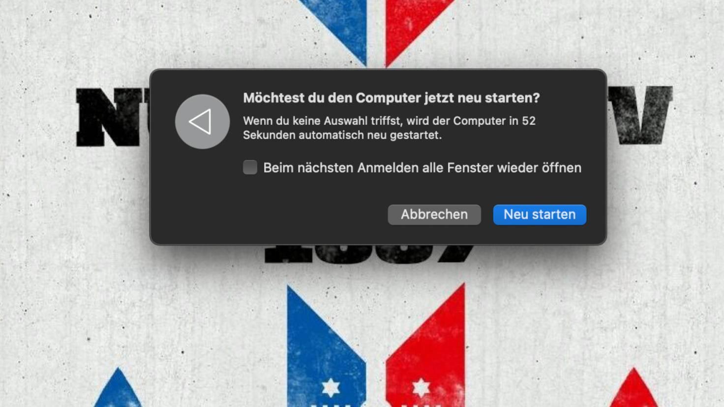 macOS-Neustart