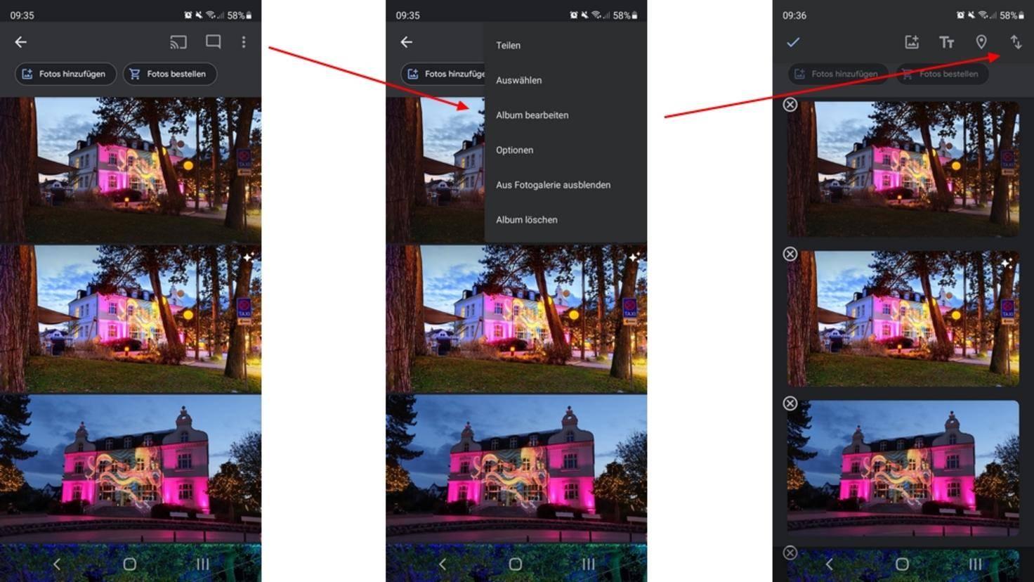 Fotos-Sortieren-Android