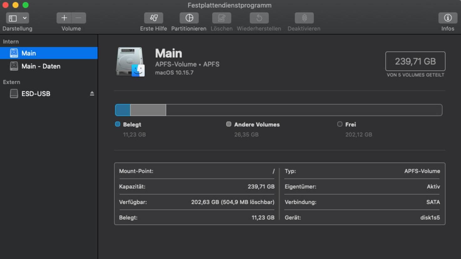Mac-update-festplattendienstprogramm