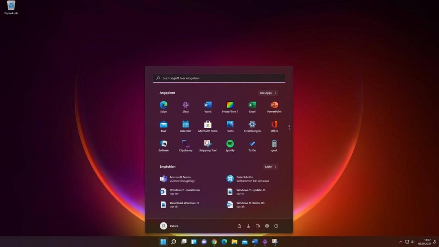 Windows-11-Homescreen