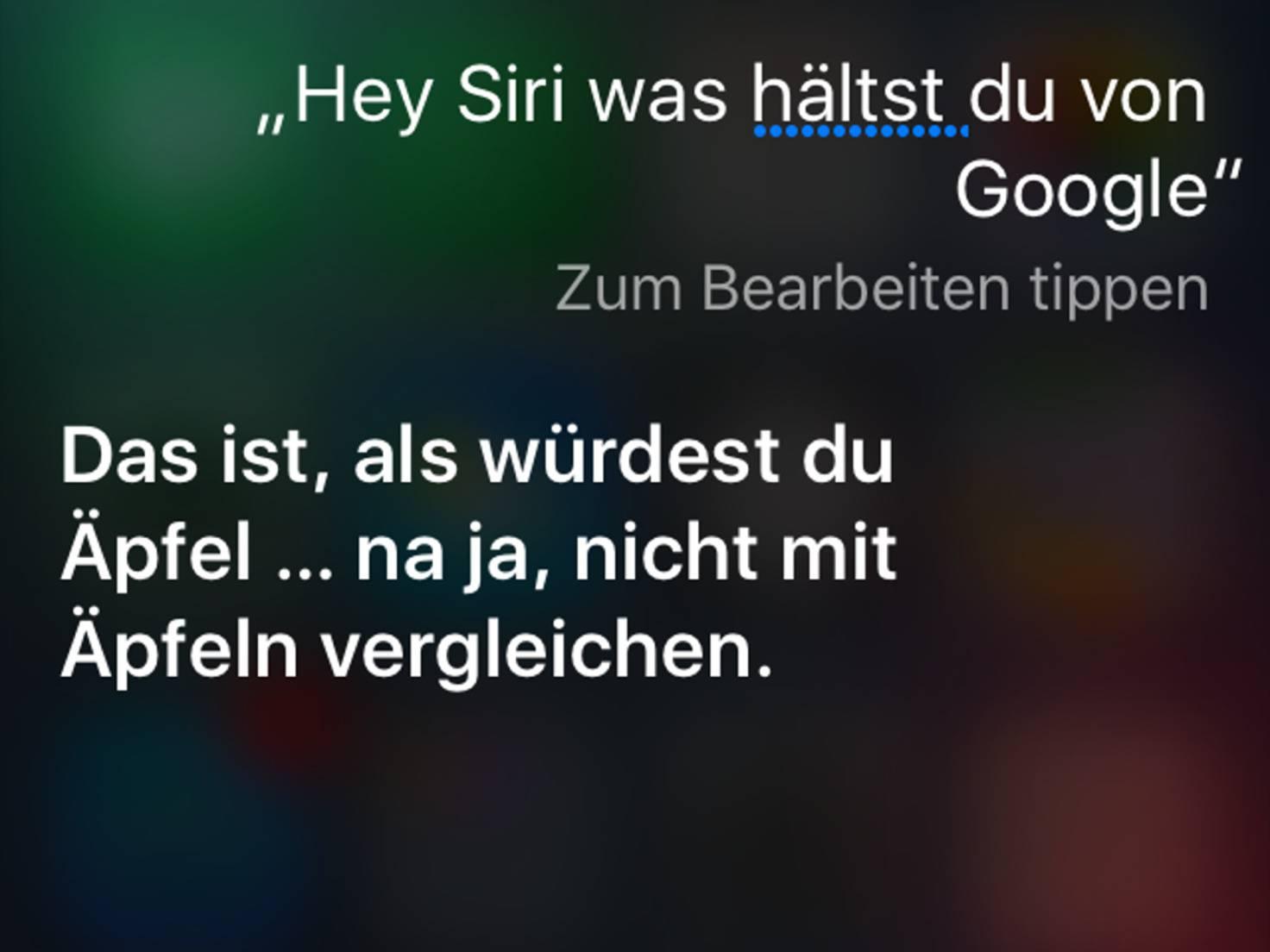 Lustige Siri Befehle