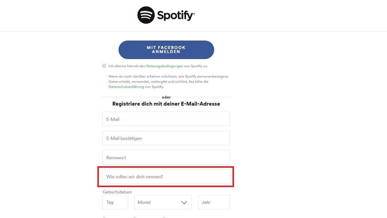 Angeben spotify falsche adresse Spotify Family