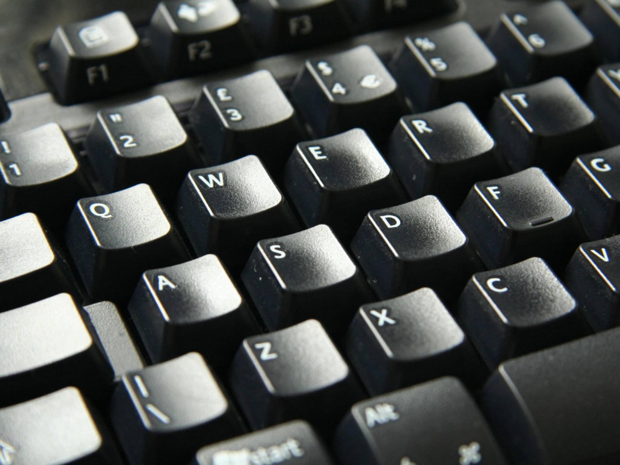 Die Sprache der Tastatur kann leicht versehentlich verstellt werden.