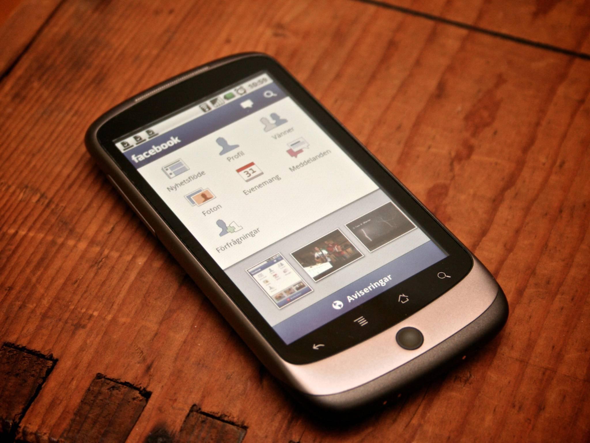 Facebook-App auf einem Smartphone