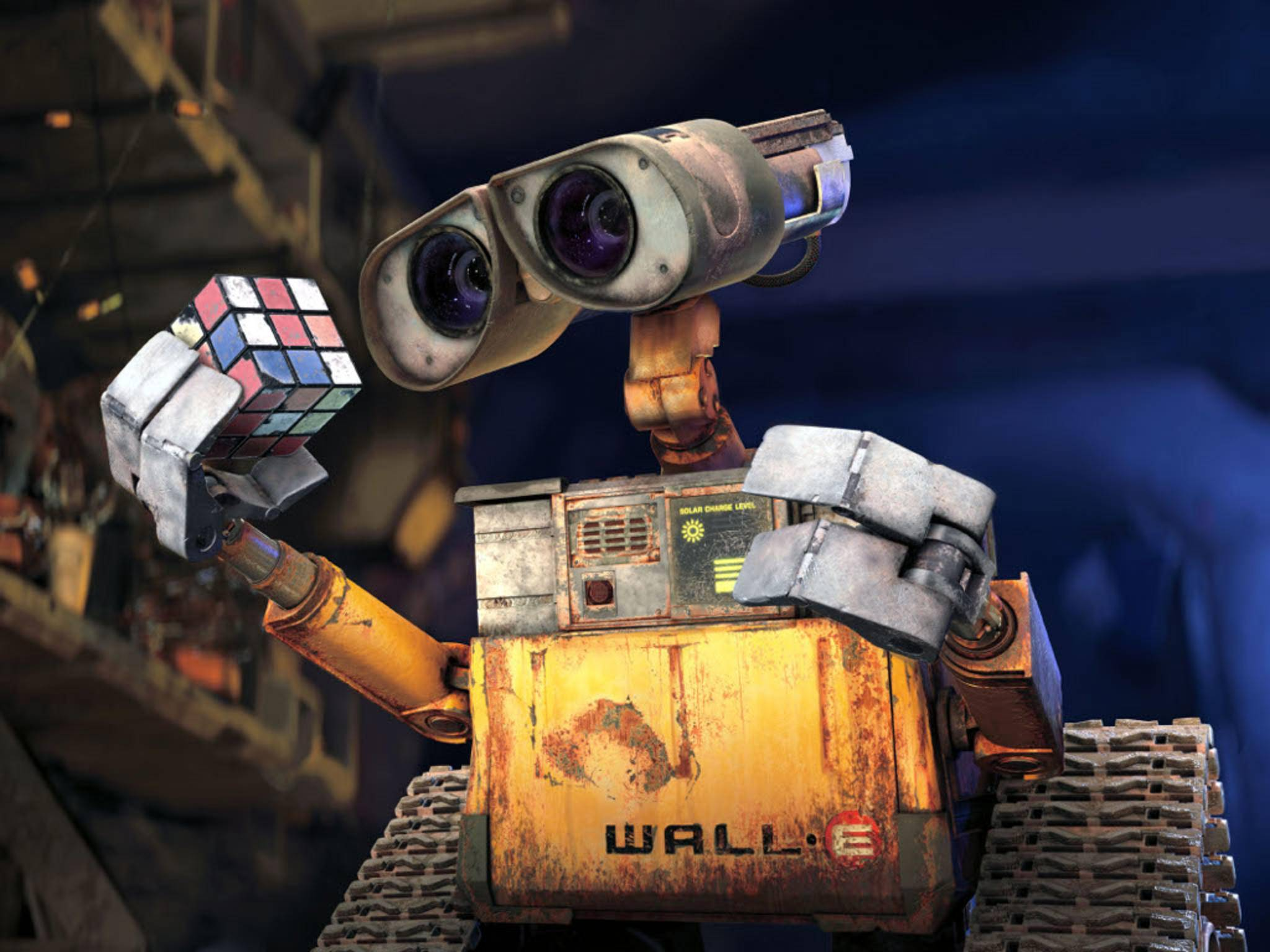 Der kleine Roboter Wall-E – Held des gleichnamigen Animationsfilms